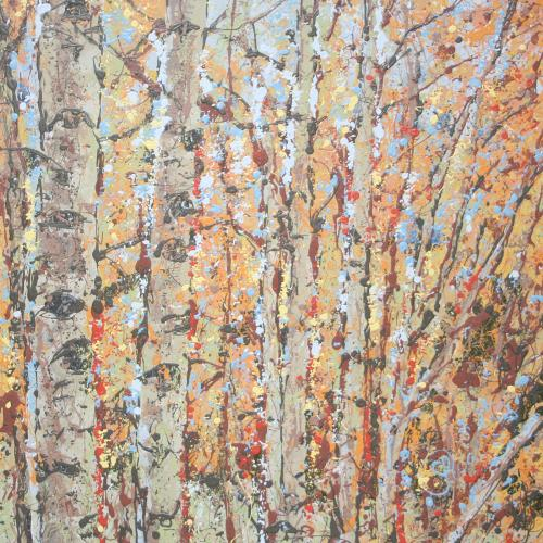 Latex Enamel Painting on Gallery Wrapped Canvas by Fort Collins, Colorado Artist Lisa Cameron Russell