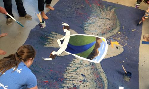 Sky View Academy students-work on Alliance Student Art Project Created by Lisa Cameron Russell Alliance Student Art Projects, Aurora Colorado, Louisville, Broomfield and Highlands Ranch