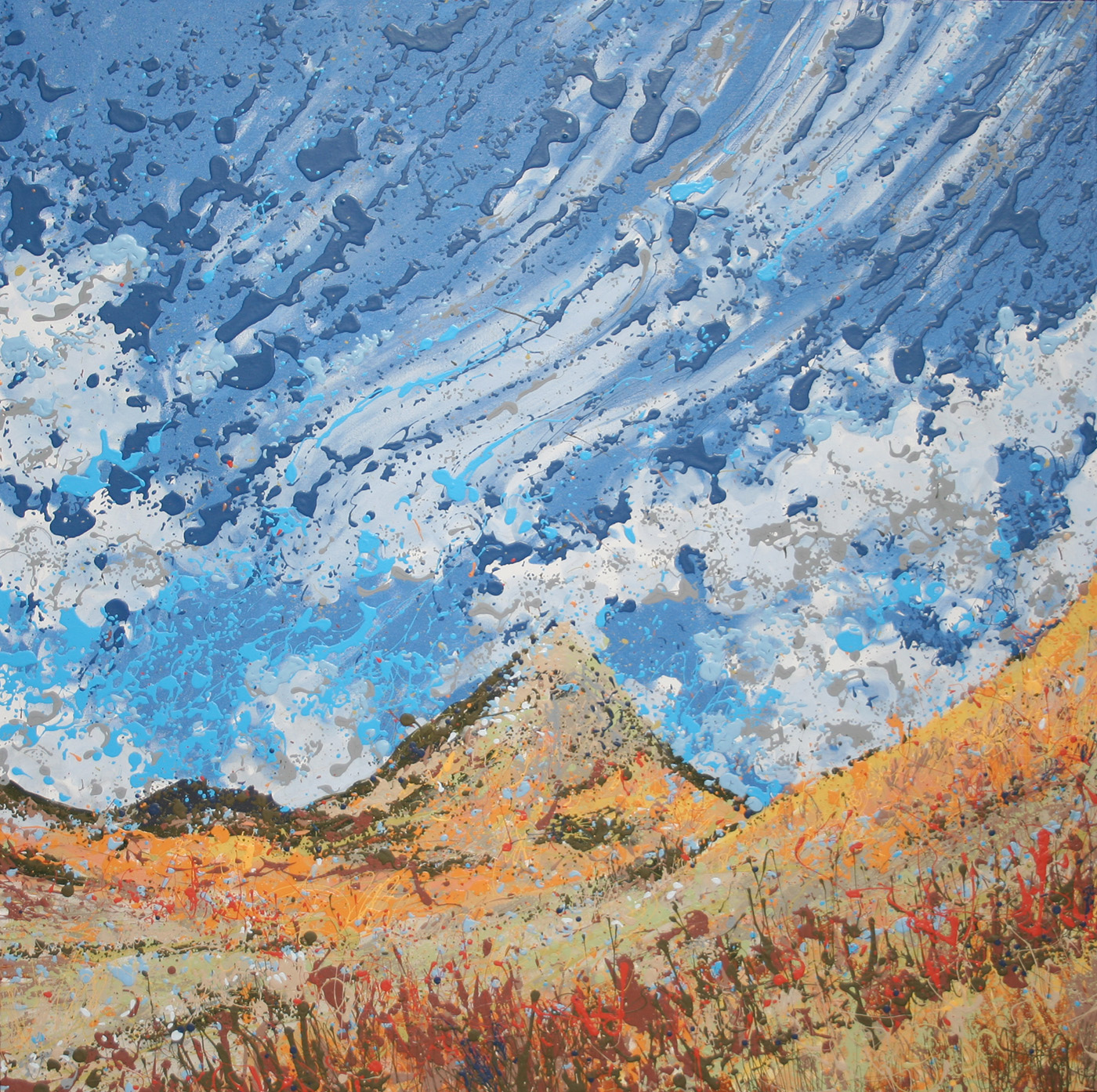 Crested Butte Latex Enamel Painting on Gallery Wrapped Canvas by Fort Collins, Colorado Artist  Lisa Cameron Russell