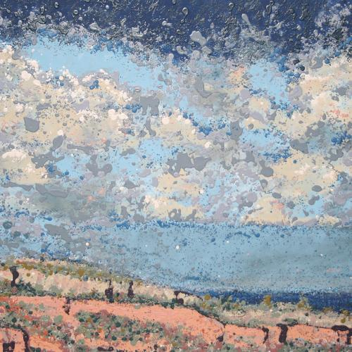 Horsetooth Area Latex Enamel Painting on Gallery Wrapped Canvas by Fort Collins, Colorado Artist Lisa Cameron Russell