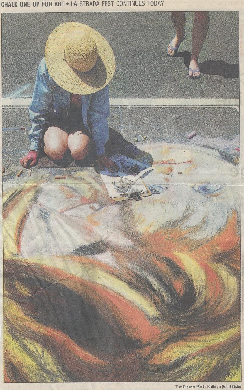 The Denver Post, La Strada dell' arte, chalk Italian Street Festival, Lisa Huff, Lisa Cameron Russell, Kathryn Scott Osler